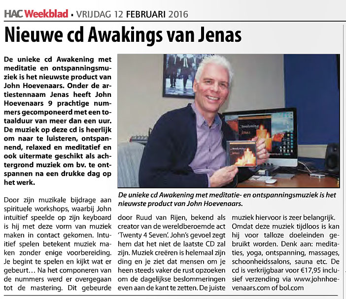 HAC Weekblad Artikel CD Awakening